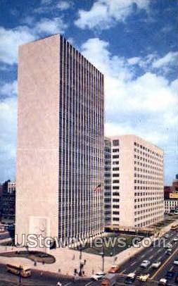 New City County Bldg - Detroit, Michigan MI Postcard