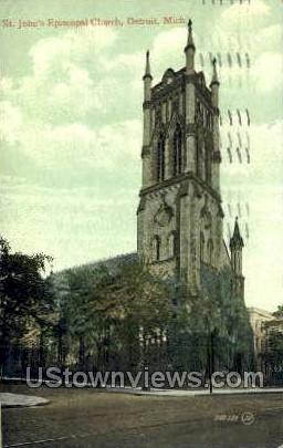 St. John's Episcopal Church - Detroit, Michigan MI Postcard