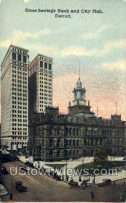 Dime Savings Bank - Detroit, Michigan MI Postcard