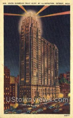 Union Guardian Trust Bldg - Detroit, Michigan MI Postcard