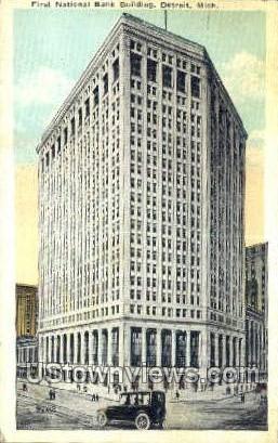 First National Bank Bldg. - Detroit, Michigan MI Postcard