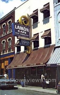 Laikon Caf» - Detroit, Michigan MI Postcard