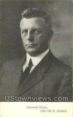Mayor Oscar B. Mark - Detroit, Michigan MI Postcard