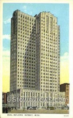 Buhl Bldg - Detroit, Michigan MI Postcard