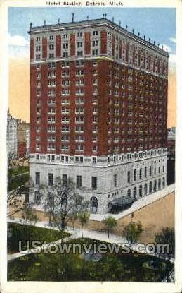 Hotel Statler - Detroit, Michigan MI Postcard