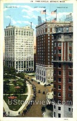 Park Circle - Detroit, Michigan MI Postcard