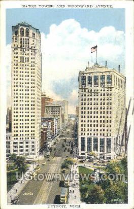 Eaton Tower - Detroit, Michigan MI Postcard