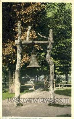 Old Spanish Bell, Palmer Park - Detroit, Michigan MI Postcard