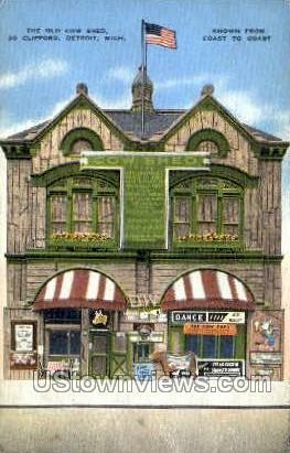 Old Cow Shed - Detroit, Michigan MI Postcard