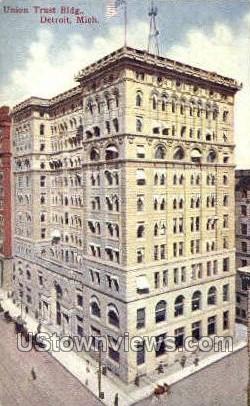 Union Trust Bldg - Detroit, Michigan MI Postcard