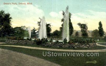 Owen's Park - Detroit, Michigan MI Postcard