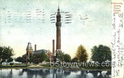 Waterworks, Tower - Detroit, Michigan MI Postcard