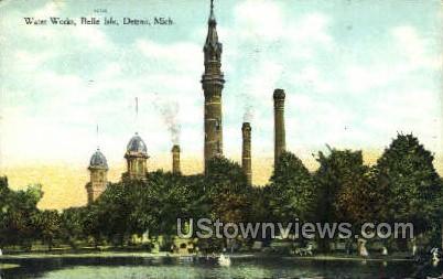 Water Works, Belle Isle - Detroit, Michigan MI Postcard
