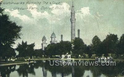 Waterworks Pumping Station - Detroit, Michigan MI Postcard