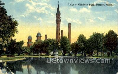 Galdwin Park - Detroit, Michigan MI Postcard