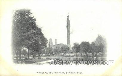 Water Works & Park - Detroit, Michigan MI Postcard