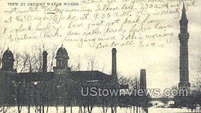 Detroit Water Works - Michigan MI Postcard