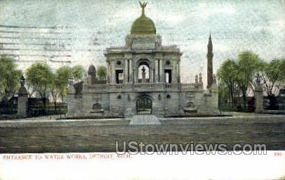 Water Works - Detroit, Michigan MI Postcard