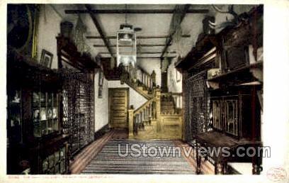 Hall, Log Cabin, Palmer Park - Detroit, Michigan MI Postcard