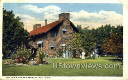 Log Cabin, Palmer Park - Detroit, Michigan MI Postcard