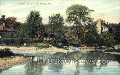 Lagoon, Palmer Park - Detroit, Michigan MI Postcard
