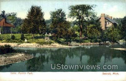 The Lake, Palmer Park - Detroit, Michigan MI Postcard