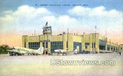 Detroit Municipal Airport - Michigan MI Postcard