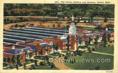 Edison Institute & Museum - Detroit, Michigan MI Postcard