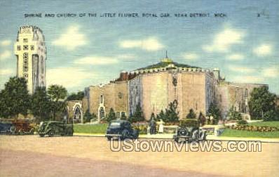 Shrine & Church of the Little Flower - Detroit, Michigan MI Postcard