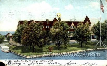 Mervue Club, St. Claire Flats - Detroit, Michigan MI Postcard