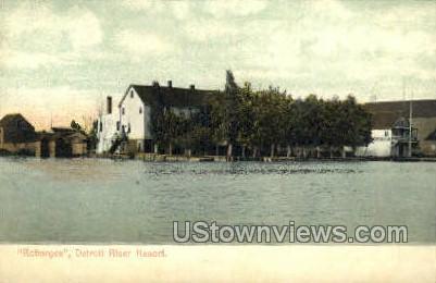 Robarges, Detroit River Resort - Michigan MI Postcard