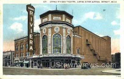Grand Riviera Theatre - Detroit, Michigan MI Postcard