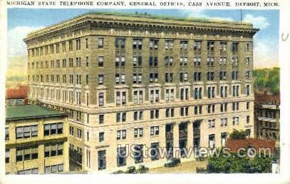 Michigan State Telephone Co - Detroit Postcard