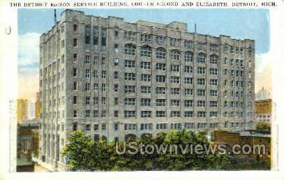 Edison Service Bldg - Detroit, Michigan MI Postcard