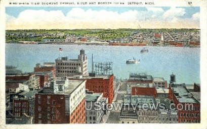 River & Border Cities - Detroit, Michigan MI Postcard
