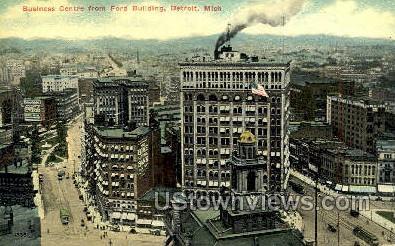 Business Centre, Ford Bldg - Detroit, Michigan MI Postcard