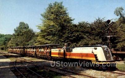 Mini Streamliner, Zoological Park - Detroit, Michigan MI Postcard