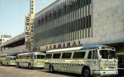 Greyhound Bus Terminal - Detroit, Michigan MI Postcard