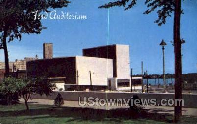 Ford Auditorium - Detroit, Michigan MI Postcard