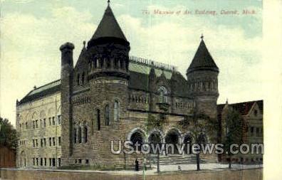 Museum of Art - Detroit, Michigan MI Postcard