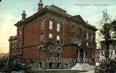 Public Library - Detroit, Michigan MI Postcard
