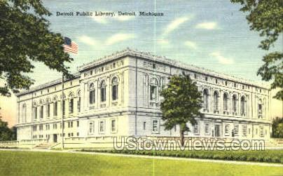 Detroit Public Library - Michigan MI Postcard