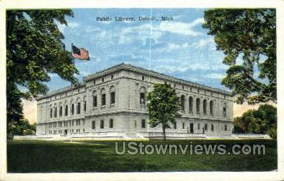 Public Library - Detroit, Michigan MI Postcard