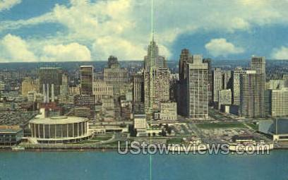 Detroit's Civic Center - Michigan MI Postcard