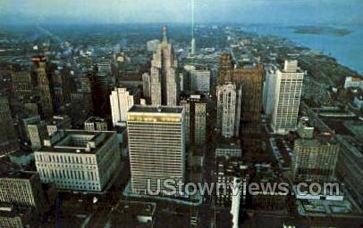 Business District - Detroit, Michigan MI Postcard