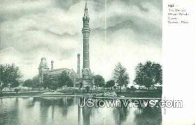 Water Works Tower - Detroit, Michigan MI Postcard