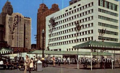 Civic Center Park - Detroit, Michigan MI Postcard