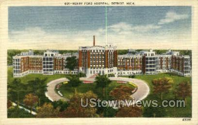 Henry Ford Hospital - Detroit, Michigan MI Postcard