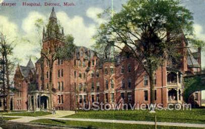 Harper Hospital - Detroit, Michigan MI Postcard