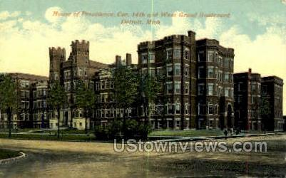 House of Providence, Cor. 14th - Detroit, Michigan MI Postcard